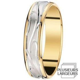 Les motifs vagues - Alliance de mariage 2 Ors