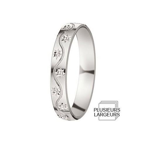 Alliance de mariage Or blanc - Boutique Alliance - 07030585
