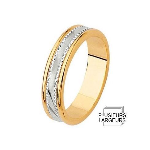 Alliance de mariage 2 Ors 750 - 04030041B