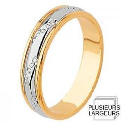 Alliance de mariage 2 Ors 750 - 04030080B