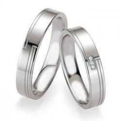 Alliance de mariage Breuning en Argent poli/brillante