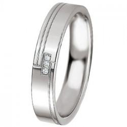 Alliance de mariage Breuning en Argent et diamants