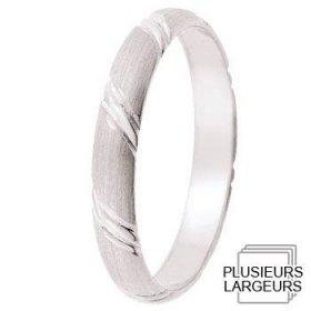 Les motifs lignes - Alliance de mariage Or blanc