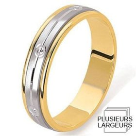 Alliances à moins de 600€ - Alliance de mariage 2 Ors 750