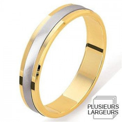 alliance de mariage or jaune 750 platine alliance de mariage en or ...