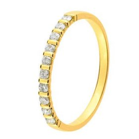 Alliance Or jaune Diamant - 0.20 ct