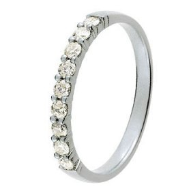Alliance Diamant - Alliance Or blanc et Diamant 0,30 ct