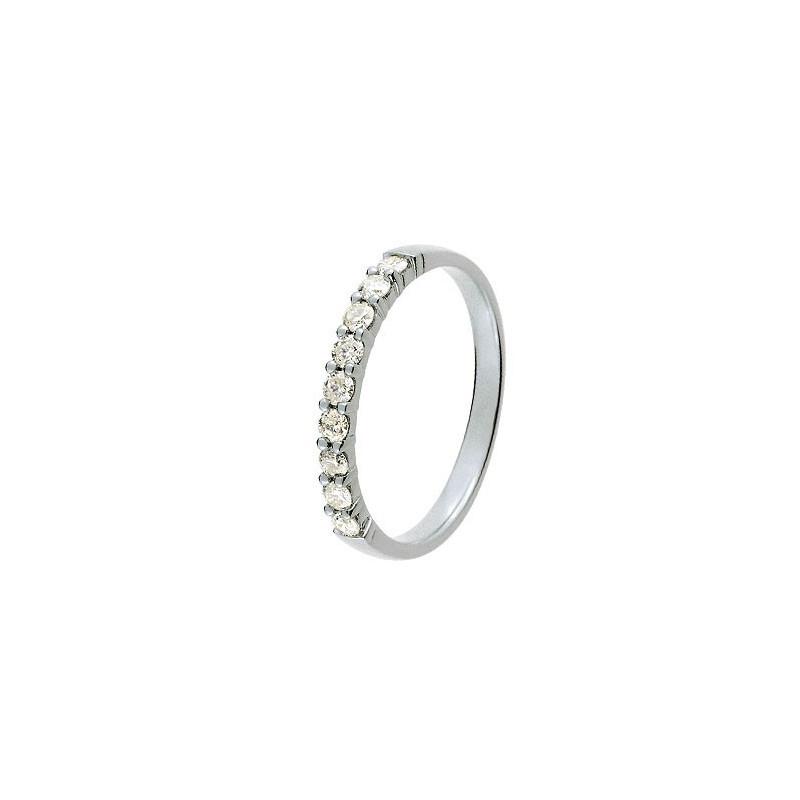 Alliance Or blanc et Diamant 0,30 ct