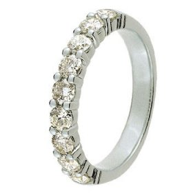 Alliance Or blanc Diamant - 1 ct