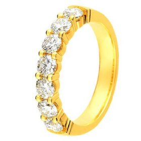 Alliance Or jaune Diamant - 1.20 ct