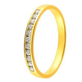 Alliance Or jaune Diamant - 0.15 ct