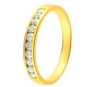 Alliance Or jaune Diamant - 0.25 ct