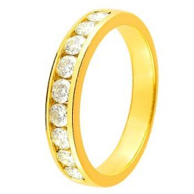 Alliance Or jaune Diamant - 0.75 ct
