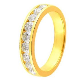 Alliance Or jaune Diamant - 1 ct