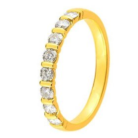 Alliance Or jaune Diamant - 0.40 ct
