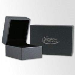 Alliance de mariage BREUNING Black & White + Diamant - 13774603 - Boutique AllianceG