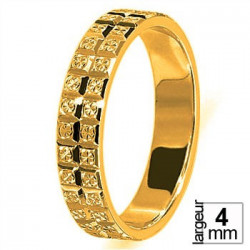 Alliance de mariage Or jaune 4 mm