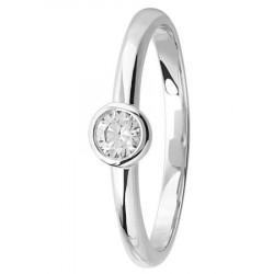bague solitaire diamant serti clos en platine
