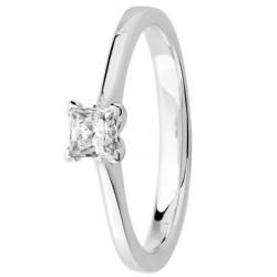 Bague solitaire diamant serti 4 griffes diamant princesse
