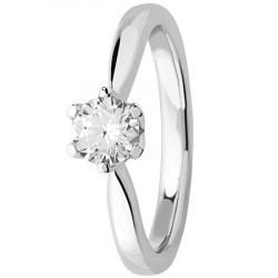 Bague solitaire diamant en platine 950