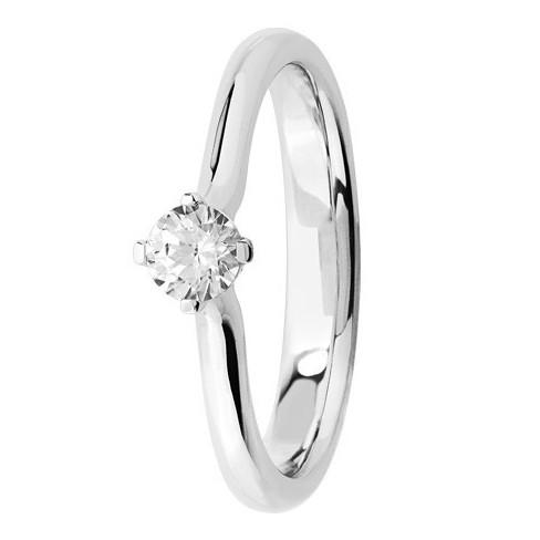 Bague solitaire diamant blanc serti 4 griffes
