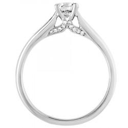 Bague solitaire diamants en Platine 950ème