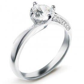 Bague de fiançailles femme - Bague solitaire Diamant...