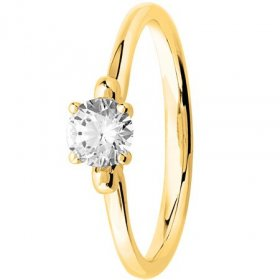 Bague solitaire Diamant Or...
