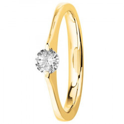 Bague solitaire diamant serti masse en Or jaune
