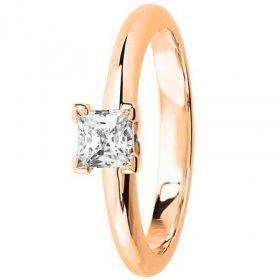 Bague de Fiançailles - Bague solitaire Diamant Or...