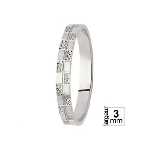 Alliance de mariage Or blanc - 06033430
