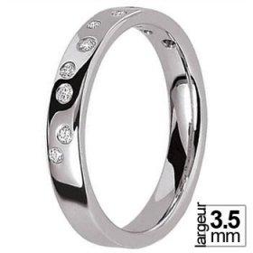 Alliance Diamant femme - Alliance de mariage Platine...