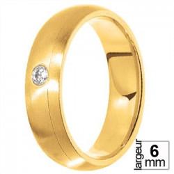 Alliance diamant et Or jaune - Boutique Alliance