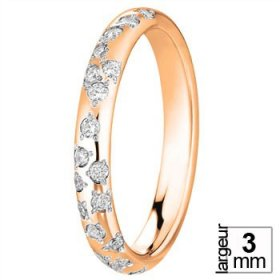 Alliance femme originale - Alliance de mariage Or rose...