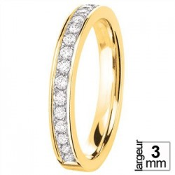 Alliance diamants et Or jaune serti grains - Boutique Alliance