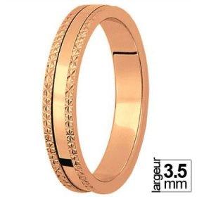 Les diamantées - Alliance de mariage Or rose...