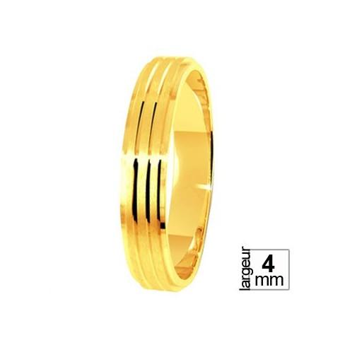 Alliance Or jaune filets brillants - 04036068J