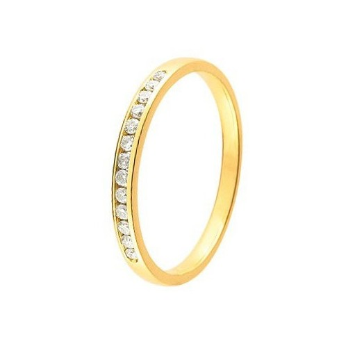 Alliance diamant et or jaune 11770938J - Boutique Alliance