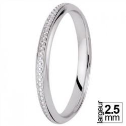 Alliance de mariage Or blanc - 04026083