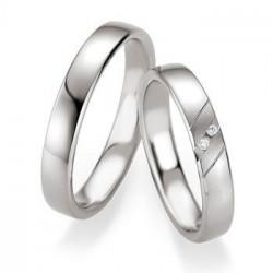Alliance de mariage Breuning argent poli - Boutique Alliance