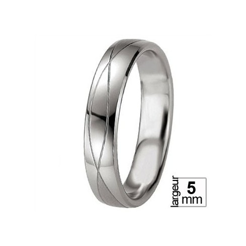 Alliance argent Breuning symbole infini - Boutique Alliance