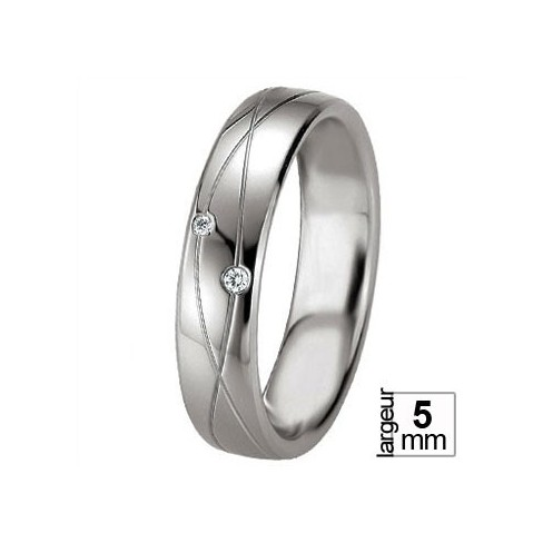Alliance Breuning en argent symbole infini - Boutique Alliance