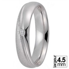 Alliance Or blanc homme - Alliance de mariage Or...