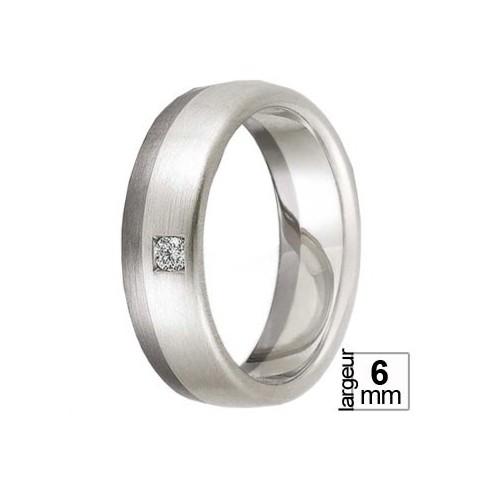 Alliance Diamant réalisée en Palladium 500 et Or blanc 375 - Boutique Alliance