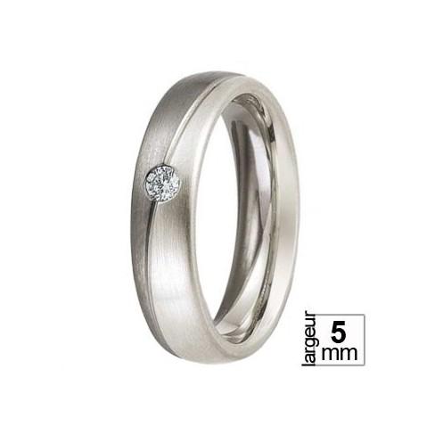 Alliance Palladium et Or blanc avec diamant