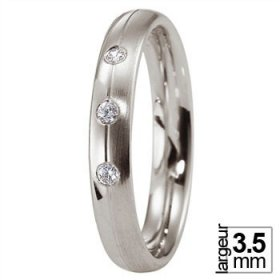 Alliance Diamant - Alliance de mariage Platine...
