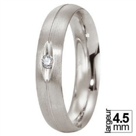 Alliance femme originale - Alliance de mariage Platine...