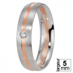 Alliance Breuning Platine et Or rose avec diamant