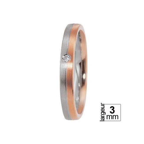 Breuning Or rose et Platine avec Diamant - Boutique Alliance