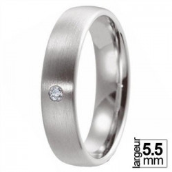 Alliance de mariage Breuning en Platine et Diamant